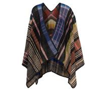 Checked Wool-blend Wrap Mehrfarbig