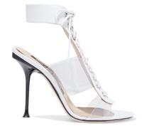 Sr Milano 105 Sandalen aus Pvc und Leder mit Schnürung