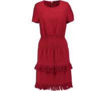 Rabata Tiered Tweed Mini Dress Rot