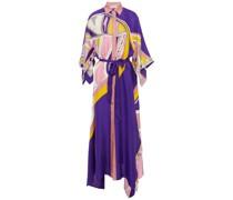 Belted Printed Silk-twill Maxi Dress