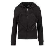 Ruffled cotton-blend jersey hooded sweatshirt