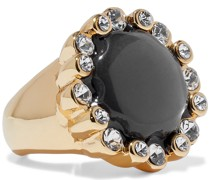 22-karat -plated, Stone And Crystal Ring