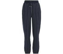 Striped French Cotton-terry Track Pants