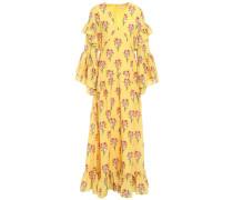 Luna Ruffled Floral-print Cotton Maxi Dress