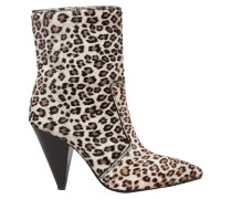 Atomic West Leopard-print Calf Hair Ankle Boots