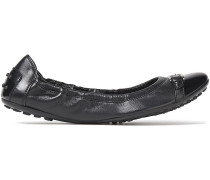 Patent-trimmed Leather Ballet Flats