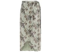 Midi-wickelkleid aus Chiffon mit Floralem Print