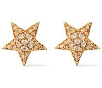 Silberfarbene Ohrclips mit Kristallen