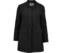 Gretelle Cotton-jacquard Coat Schwarz