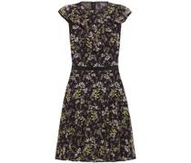 Plissiertes Kleid aus Tüll mit Stickereien und Häkelbesatz