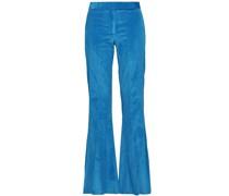 Cotton-blend Corduroy Flared Pants