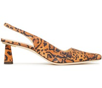 Diana Slingback-pumps aus Veloursleder mit Leopardenprint