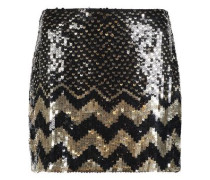 Elana sequined crepe mini skirt