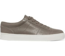 Afton textured-leather sneakers