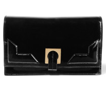 Patent-leather Clutch Schwarz