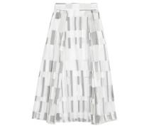 Fil Coupé Cotton-blend Skirt Hellgrau