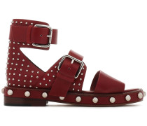 Buckled Studded Leather Sandals