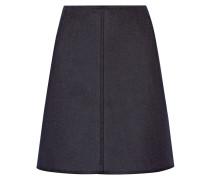 Wool-blend Felt Mini Skirt Navy