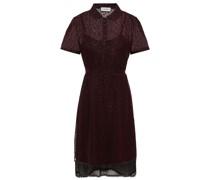 Hemdkleid aus Cupro-organza mit Glitter-finish, Bindedetail Hinten und Zackenlitzen