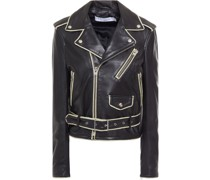 Allumy Leather Biker Jacket