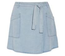 Denim wrap mini skirt