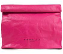 Lunchbag 30 Crinkled-leather Clutch