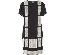 Motivi Embroidered Crepe Mini Dress Schwarz