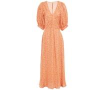Nadette Floral-print Cady Midi Dress