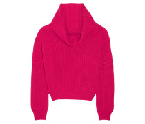 Ribbed Cashmere Sweater Fuchsia