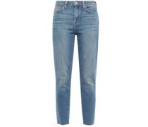 Hoch Sitzende Jeans mit Schmalem Bein in ausgewaschener Optik