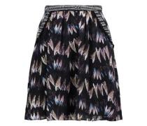 Marisa pleated silk-jacquard mini skirt