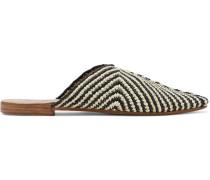 Kalam Woven Raffia Slippers