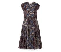 Asis Printed Cotton And Silk-blend Midi Dress