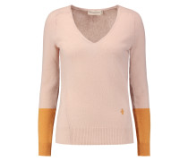 Two-tone Cashmere Sweater Altrosa