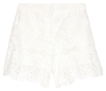 Ianis Guipure Lace Shorts Weiß