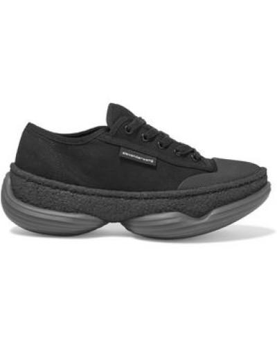 A1 Canvas Platform Sneakers Black