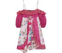 Lucy Kleid aus Baumwoll-voile mit Print und Rüschen