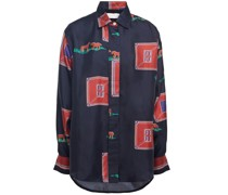 Bedrucktes Hemd aus Seiden-twill