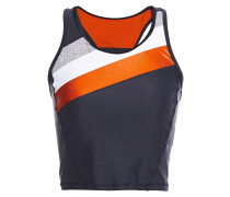 Cropped Color-block Stretch Tank