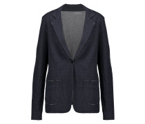 Cotton And Cashmere-blend Blazer Mitternachtsblau