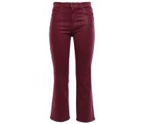 Selena Coated Mid-rise Kick-flare Jeans