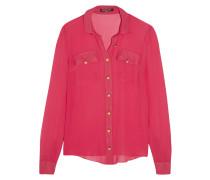 Silk-chiffon Shirt Pink
