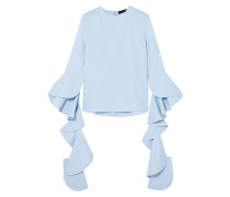 Emmeline Ruffled Cotton-poplin Top