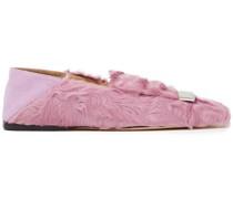 Sr1 Verzierte Loafers aus Shearling mit Einklappbarer Fersenpartie
