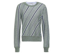 Metallic Striped Jacquard-knit Sweater