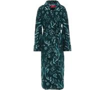 Acheso Belted Brushed Jacquard Coat