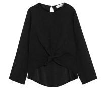 Bluse aus Jacquard mit Knotendetail und Polka-dots