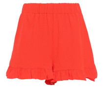Clark Ruffle-trimmed Stretch-crepe Shorts
