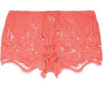 Minnie crocheted cotton shorts