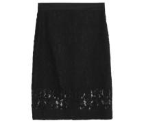 Cotton-blend lace skirt